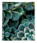Fuzzy Succulent Leaves Fleece Blanket