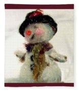 Fuzzy The Snowman Fleece Blanket