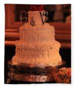 G And V Wedding Cake Fleece Blanket
