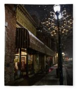 G Street Antique Store In The Snow Fleece Blanket