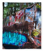 Gaffiti In The Candian Forest Fleece Blanket
