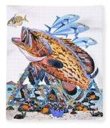 Gag Grouper Fleece Blanket