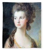Gainsborough's The Hon. Mrs. Thomas Graham Up Close Fleece Blanket