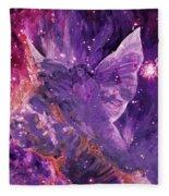 Galactic Angel - Rose Fleece Blanket