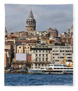 Galata Tower 03 Fleece Blanket