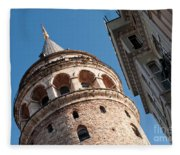 Galata Tower 04 Fleece Blanket