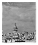 Galata Tower Mono Fleece Blanket