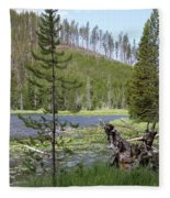Gallatin River Yellowstone  Fleece Blanket
