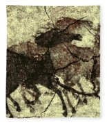 Galloping Horses Fleece Blanket