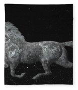 Galloping Through The Universe Fleece Blanket