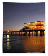 Galveston Fishing Pier 2am-108856 Fleece Blanket