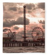 Galveston Island Morning Fleece Blanket