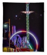 Galveston Pleasure Pier Fleece Blanket