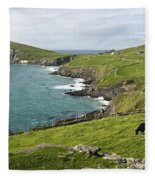 Atlantic Coast Of Ireland Fleece Blanket
