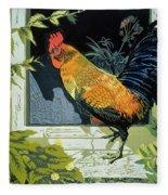 Gamecock And Hen Fleece Blanket