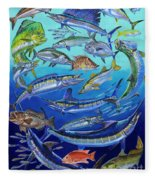 Gamefish Collage In0031 Fleece Blanket