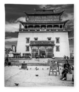 Gandantegchenling Monastery Fleece Blanket