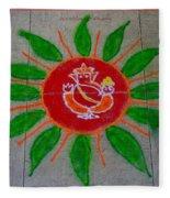 Ganesh Rangoli Fleece Blanket
