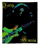 Garcia Rocks At Winterland 1977 Fleece Blanket