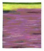Garden Abstract Fleece Blanket