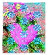 Garden Art - Abstract  Fleece Blanket