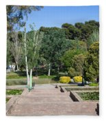 Garden At Montjuic In Barcelona Fleece Blanket