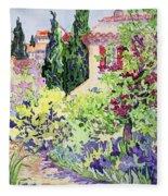 Garden At Vaison Fleece Blanket