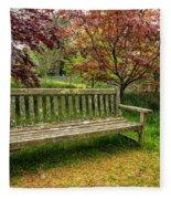 Garden Bench Fleece Blanket