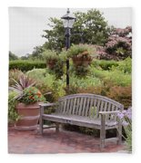 Garden Benches 6 Fleece Blanket