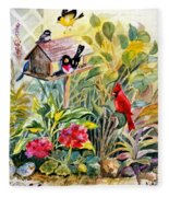 Garden Birds Fleece Blanket