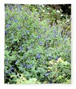 Garden Blues Fleece Blanket