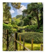 Garden Bridge Fleece Blanket