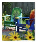Garden Chairs Fleece Blanket
