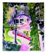 Garden City Gazebo Fleece Blanket