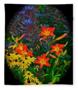 Garden Color Delight Fleece Blanket