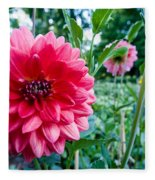 Garden Dahlia Fleece Blanket