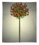 Garden Flowers 4 Fleece Blanket