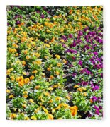 Garden Flowers Fleece Blanket