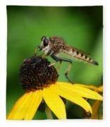 Garden Fly Fleece Blanket
