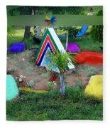 Garden Galaxy Fleece Blanket