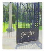 Garden Gate Fleece Blanket