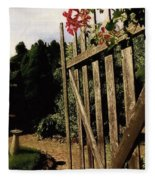 Garden Gate Welcome Fleece Blanket
