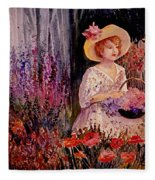 Garden Girl Fleece Blanket