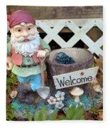 Garden Gnome - Square Fleece Blanket
