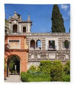 Garden In Alcazar Palace Of Seville Fleece Blanket