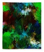 Garden In My Dream Fleece Blanket