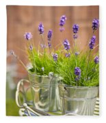 Garden Lavender Fleece Blanket