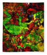 Garden Lizard Fleece Blanket