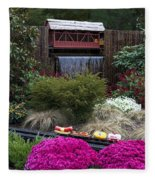 Garden Miniature Train Fleece Blanket