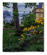 Sunset At Garden Of Les Invalides Fleece Blanket